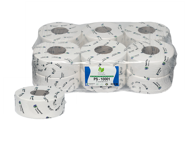 "PS 9"" inch tissue roll 6 pack with individual"